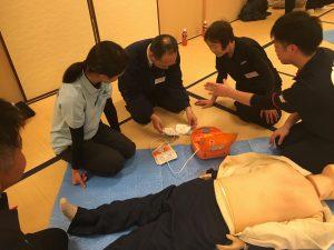 AED使用実技